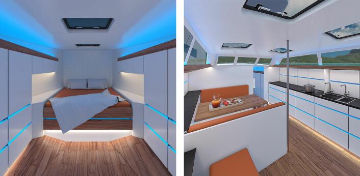 LEIELIGHET: Båten er bygget som et hjem, og får rikelig med alburom og stueplass.