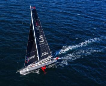 FOILER: «Malizia» ble bygget i 2015 og skal være i stand til å vinne Vendee Globe. Båten er bygget for å foile.