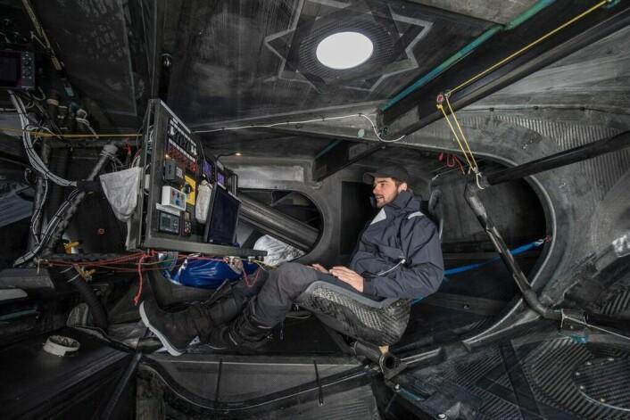 KOMFORT: «Malizia» er bygget for shorthandseiling, og er ikke tipasset passasjerer. Thunberg vil få minimalt med komfort på overfarten som kan ta opp mot to uker.