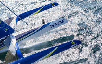 MACIF: Francois Gabart er godt vant med å vinne, men kan få en tøff jobb å beholde statusen.