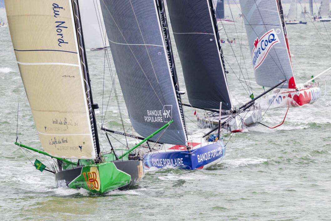 IMOCA: 20 båter startet i 60-fotsklassen hvor 11 av disse var utstyrt med foils.