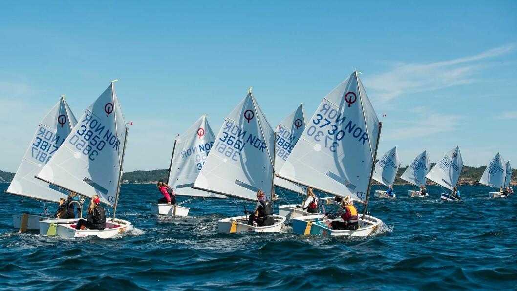 NM I OPTIMIST: Fredrikstad Seilforening er arrangør av NM i Optimist som vil telle 22 båter i gutteklassen og 23 i jenteklassen.