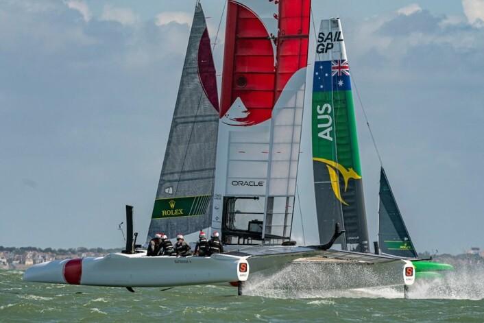 ENGLAND: SailGP seiles denne helgen i Cowes.