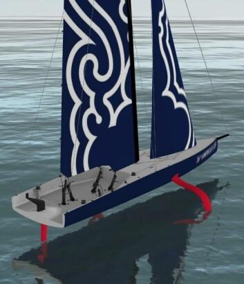 SKISSE: Slik har arrangøren skissert de nye AC75-båtene.