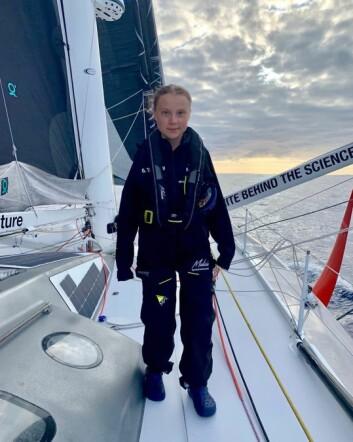 SEILER: Thunberg har fått oppleve seiling på sitt beste. Toppfart så langt er 26 knop.