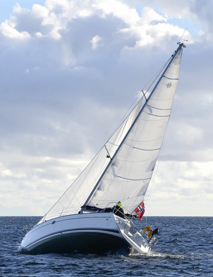 RANK: Med dype seil blir det mye krenging og lite framdrift.