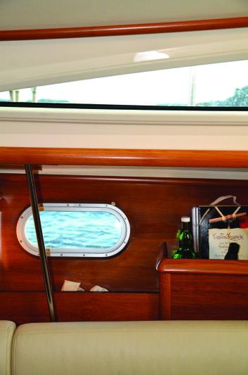 LYS: Båten var moderne med hensyn til vinduer og ventilasjon.