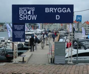 MARSTRAND: Det var god plass på bryggene under Marstrand Boat Show fredag.