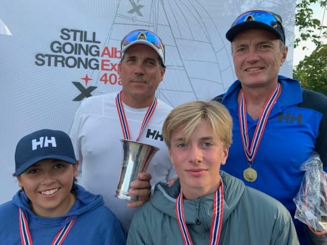 Familiene Spone og Horn-Johannessen med NM gull