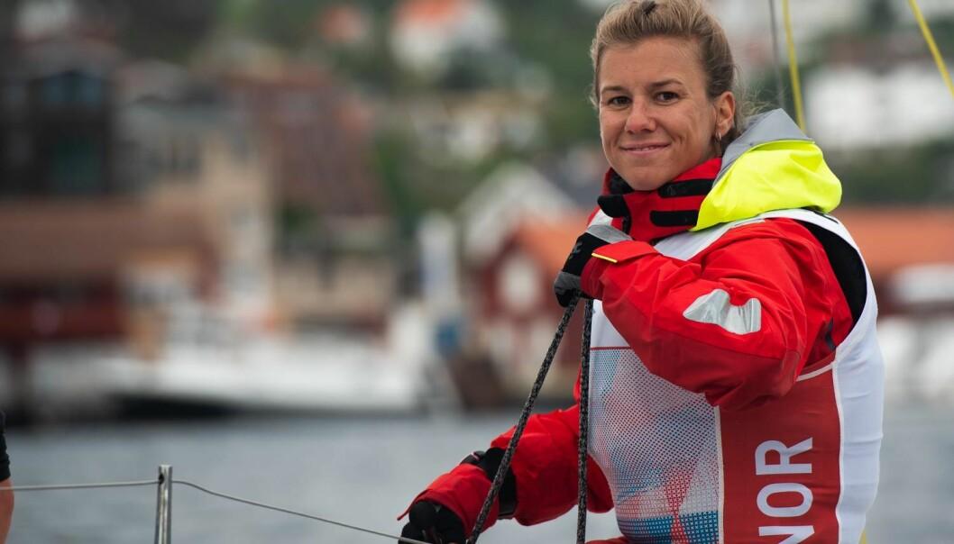 PÅ TOPP: Anette Melsom Myhre leder suverent i konkurransen om å bli Årets shorthanded-seiler.