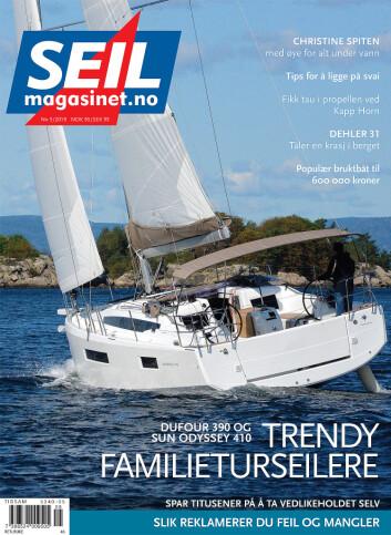 TEST. Sun Odyssen 410 preger forsiden på SEILmagasinet 5.