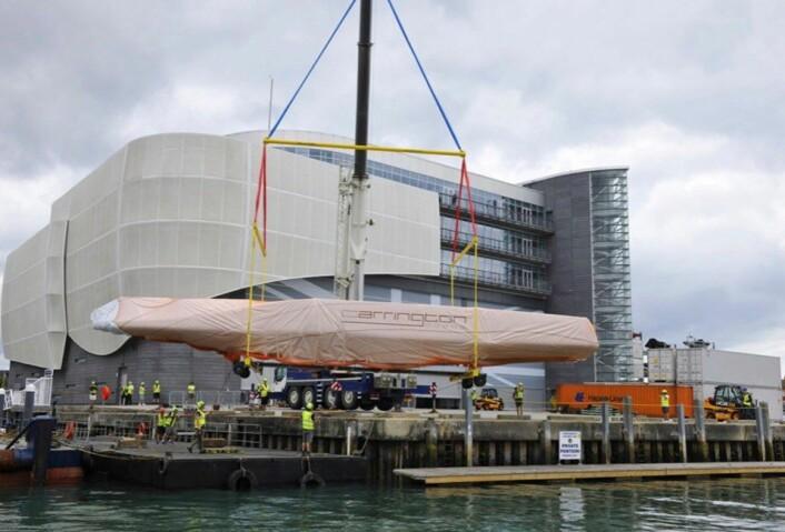 FORSINKET: Havnen i Portsmouth må mudres før den engelske båten kan sjøsettes.