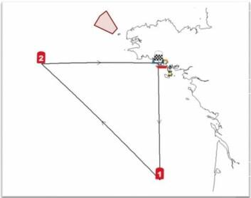 BANE: Regattaen går over 665 nm i en trekant.