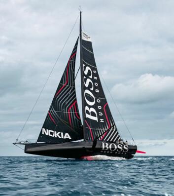 FOILER: «Hugo Boss» er den mest ekstreme nye IMOCA-båten, men har ikke så langt seilt mot konkurrenter.