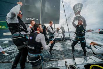 SEIER: Det australske laget tok en suveren seier i første året av SailGP.