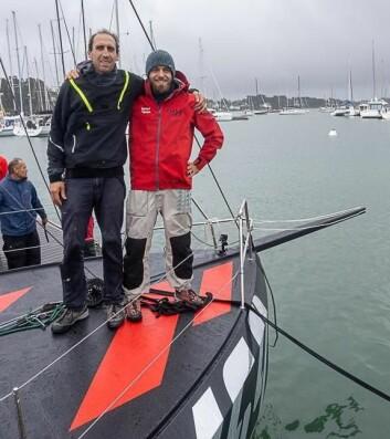 SKIPPERE: Sveisterene Simon Koster og Valentin Gautier skal seile den nye båten.
