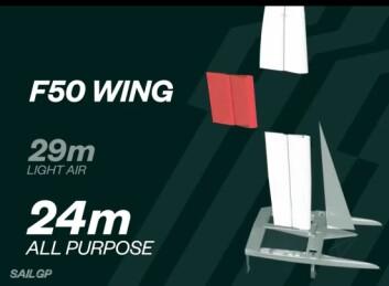 VINGE: I 2020 vil båtene være utstyrt med modulær vinge.