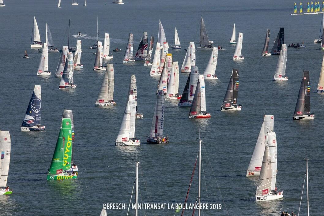 START: 87 soloseilere startet på 4050 nm lang regatta, fordelt på to etapper.