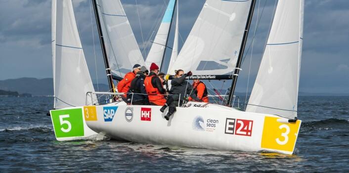 BRONSE: Melges 24-laget seilte inn til 3. plass med Herman Horn Johannessen som skipper.