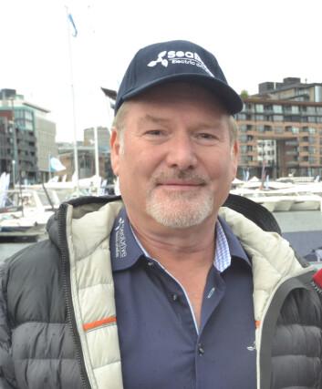 FORNØYD: Sture Karlsen gleder seg til å vise frem SeaDrive til båtbransjen på Mets.