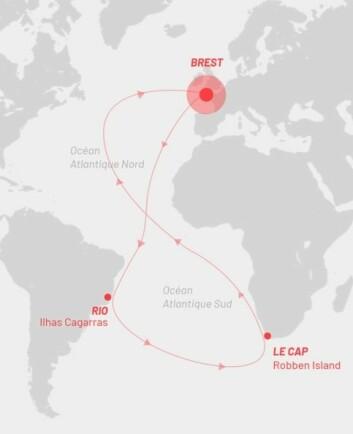 8-TALL: 14 000 nautiske mils rundtur i nord og sør Atlanteren på tre uker.