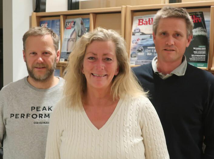 PLANLEGGING: Eira Naustvik sammen med foredragsholderne.