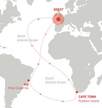 ATLANTERHAVET: Brest-Atlantique er en regatta dedikert for Ultime-klassen.