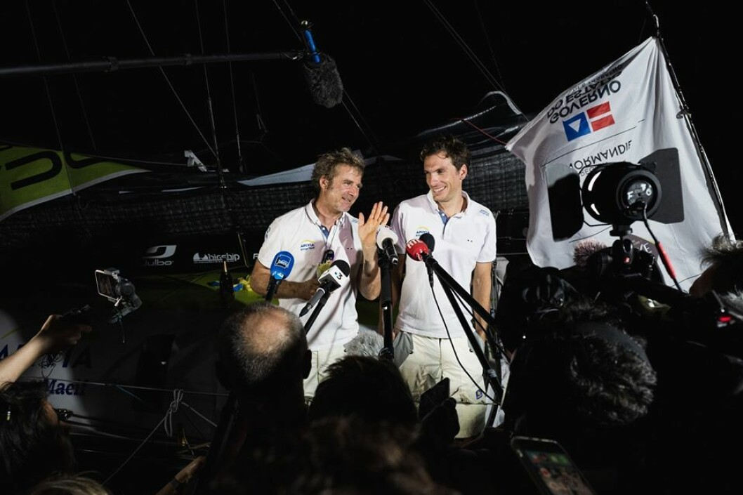 RASKEST: Charlie Dalin og makker Yann Elies vant IMOCA-klassen.