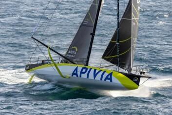 RASKEST: «Apivia» vant selv om skipperen mener at han ikke har lært seg båten enda.