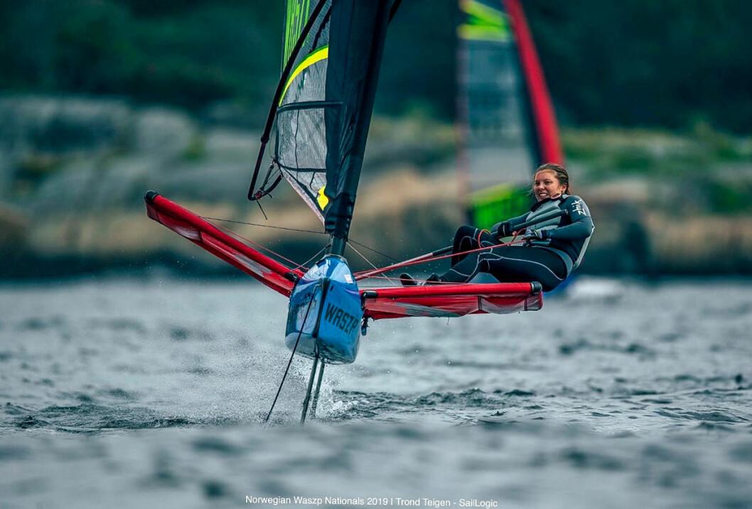 WASZP: Sarah Thodesen vant norgescupen og tok 4. plass i NM 2019.