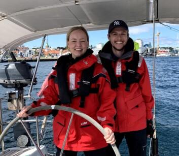 LANGTUR: Marte Løge og Håkon Åmdal klare for ARC.