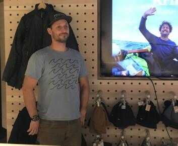FOREDRAG: Marius Olsen holdt foredrag i butikken Houdini Sportswear.