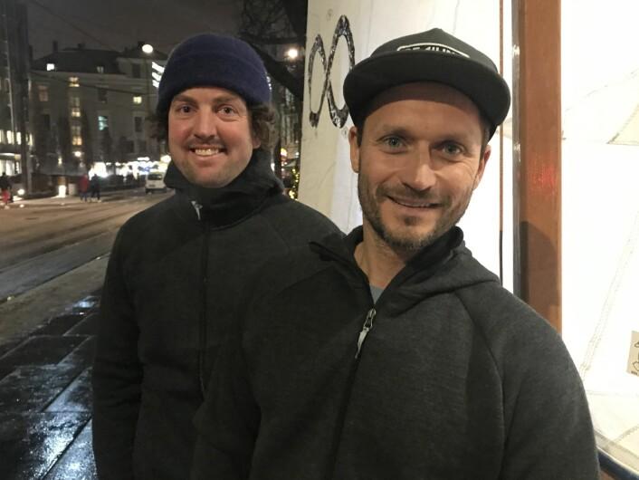 EKSPEDISJON: Marius Olsen og Morten Christensen seilte 20. juli fra Fredrikshavn mot Norge.