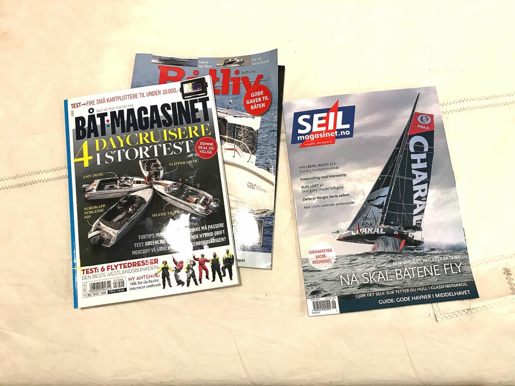 MAGASINER: Norsk Maritimt Forlag vil i 2020 gi ut Båtmagasinet sammen med SEILmagasinet.