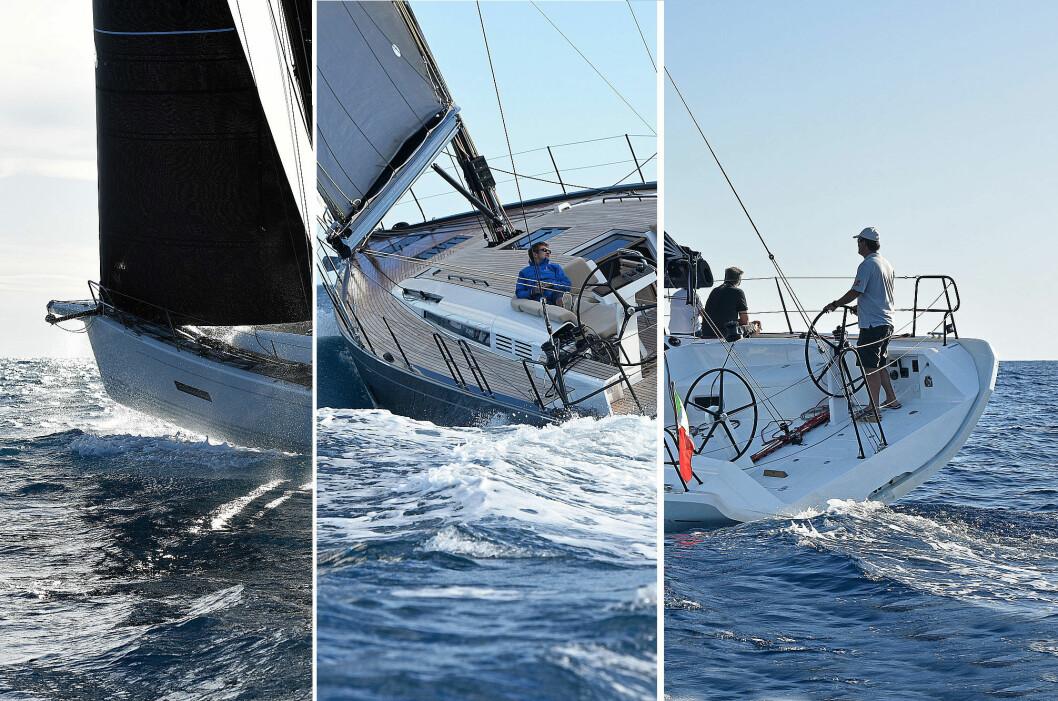 RASKE RURSEILERE: Italia 11.98, First Yacht 53, eller X4.0