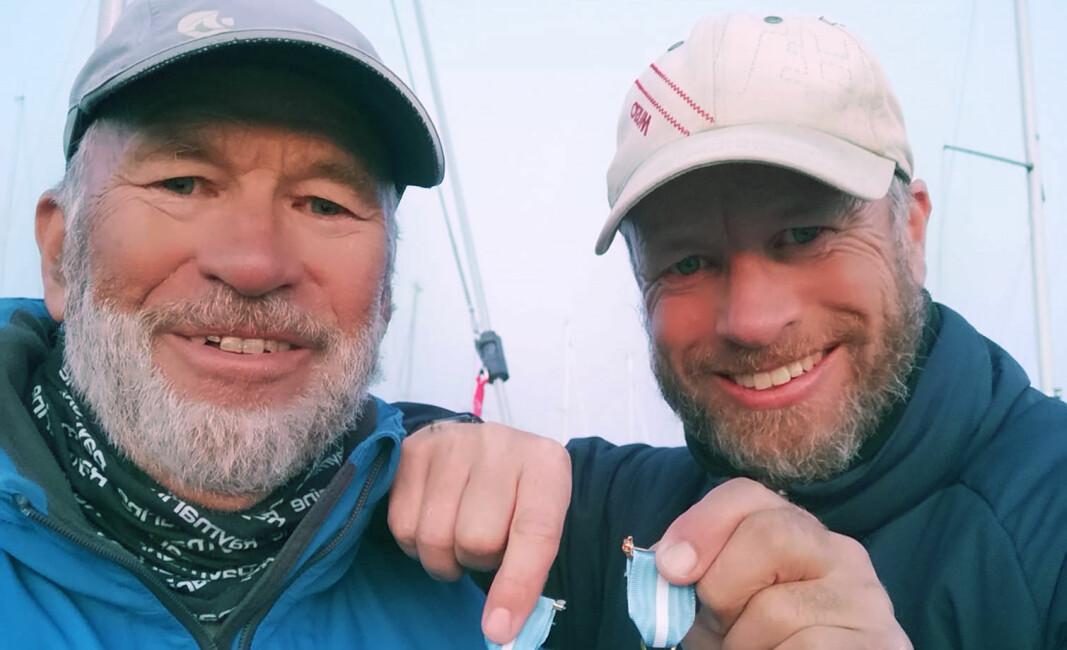 PÅ TOPP: Yngve Lønmo (t.h.) og pappa Asbjørn er ustoppelige på SEILmagasinet shorthanded-ranking.