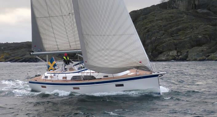 POTENT: Den nye 40-foteren har høyere mast, lengre vannlinje og er bredere enn X4.3 fra X-Yachts. Den har også nesten like mye seil.