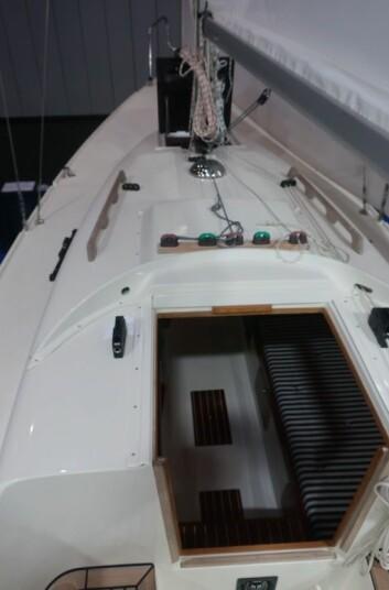 TRIM: Liner er ført bak til cockpiten.