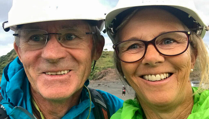 PÅ LANGTUR: Erik Føyn og Britt Eikemo har vært på tur i snart fem år.