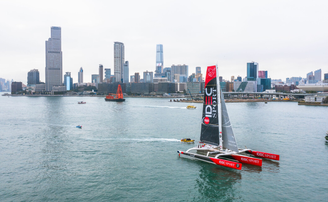 REKORD: «Idec Sport» er i ferd med å sette ny rekord mellom Hong Kon og Kina.