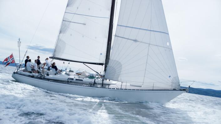 50ÅR: Baltic 46 «Queen Anne» blir den miste båten i jorda rundt-regattaen.
