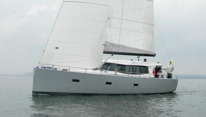 MOTORSEILER: Det var en 45-fots seilbåt av typen Moody 45 som gikk på grunn.