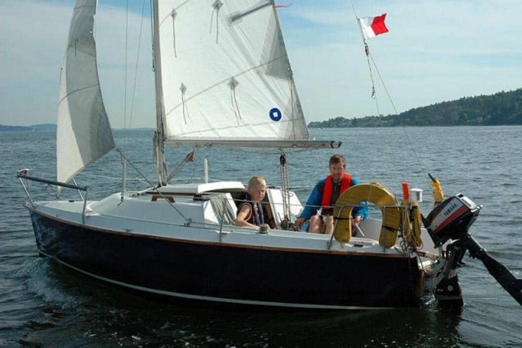 Med trailbar båt i Færdern