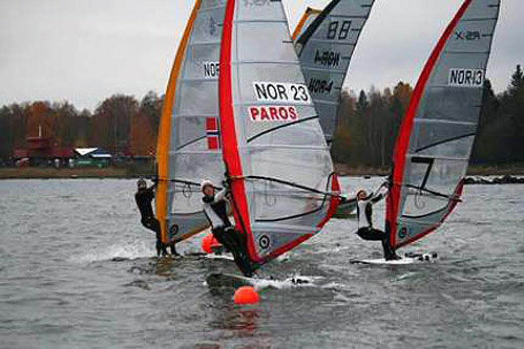 Novembertrening for RS:X seilerne i Horten