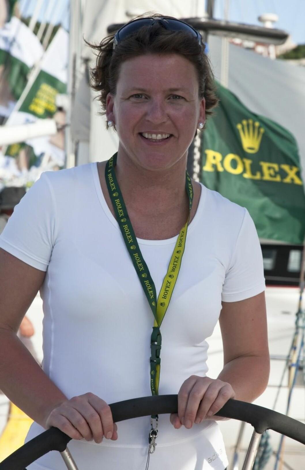 Lisbeth Røbekk, norwegian crew member on SAILING SERVICES ANSONSAILING SERVICES ANSON, Sail Number: 8848, Skipper: Richard Christian, State: NSW, Division: PHS, Design: Open 60, LOA (m): 20.15, Draft: 3.98