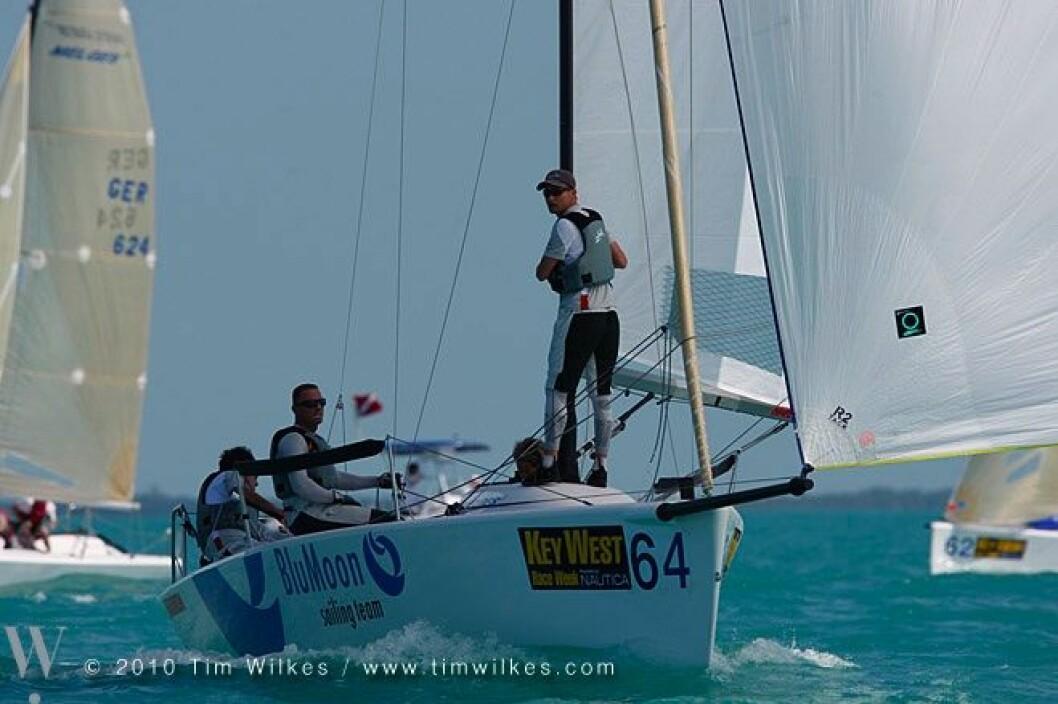 Mange vindkantringer i Key West