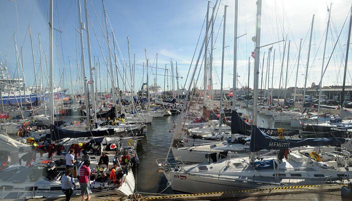 Det blir tett med båter i Skagen under Skagen Race.