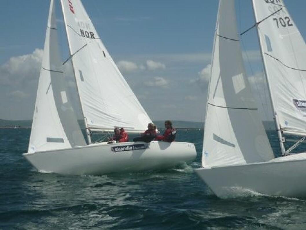 Sonarlaget to poeng fra sølv i Weymouth