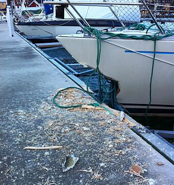 Store ødeleggelser i Holmestrand