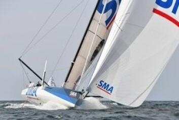 REKORD: Paul Meilhat seiler båten som van for fire år siden. «SMA» har ikke foiler. Tiden vil vise hva det gjør på farten.